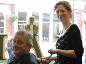 David Cradduck has a close shave for Naomi House